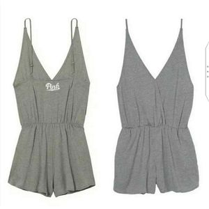 Pink By Victoria's Secret Gray Romper